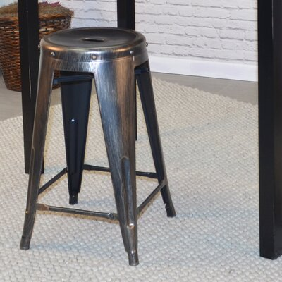 Santa Clara 24 Bar Stool Finish: Antique Copper