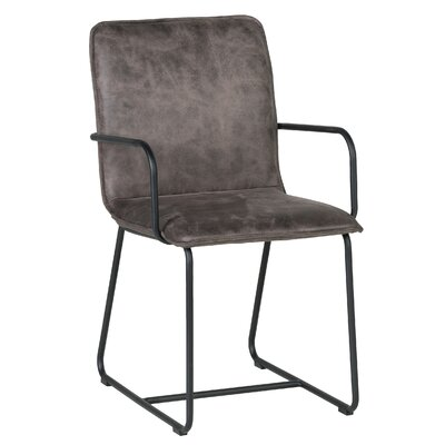 Canonero Cool Leather Armchair Upholstery: Cool Brown