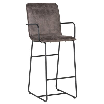 Canonero 30 inch Bar Stool Upholstery: Brown
