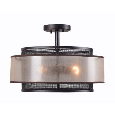 Ossipee 3-Light Semi Flush Mount