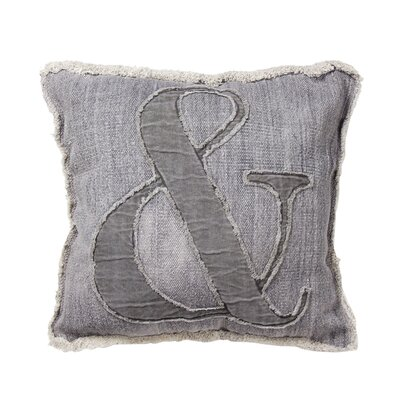 Cresson Cotton Throw Pillow Color: Light Gray