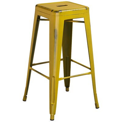 Barchetta 30 Bar Stool Finish: Distressed Yellow