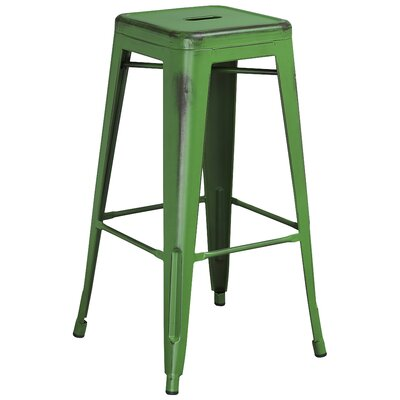 Barchetta 30 Bar Stool Finish: Distressed Green