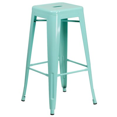 Barchetta 30 Bar Stool Finish: Glossy Mint