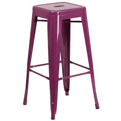 Barchetta 30 Bar Stool Finish: Glossy Purple