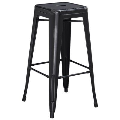 Barchetta 30 Bar Stool Finish: Distressed Black