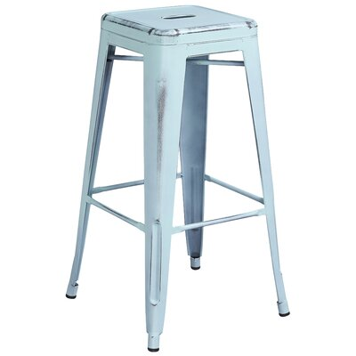 Barchetta 30 Bar Stool Finish: Distressed Dream Blue