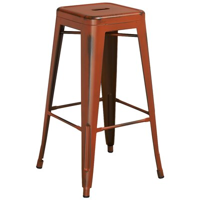 Barchetta 30 Bar Stool Finish: Distressed Orange