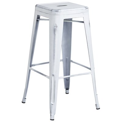 Barchetta 30 Bar Stool Finish: Distressed White