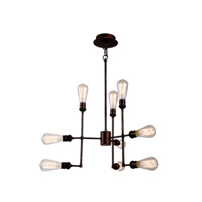Grassy Ridge  9-Light Cluster Pendant Finish: Polished Nickel
