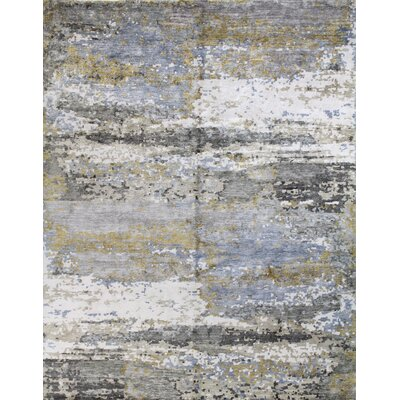 Kaylee Hand-Knotted Multi-color Area Rug Rug Size: Rectangle 9 x 12