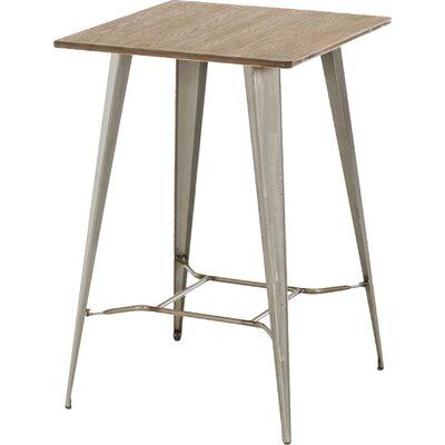 Brodick Pub Table Color: Steel