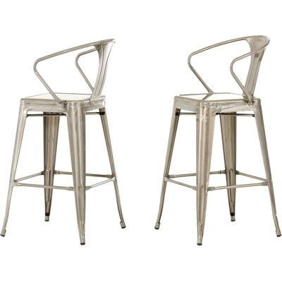 Atkinson 30 Bar Stool Finish: Steel