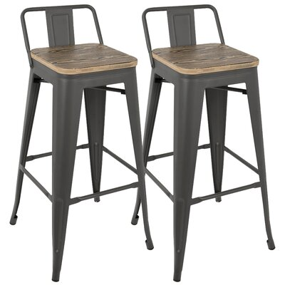 Claremont 30 Bar Stool Finish: Gray/Brown