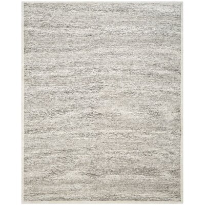 Lidia�dia Hand-Knotted Striped Gray Area Rug Rug Size: Rectangle 9 x 12