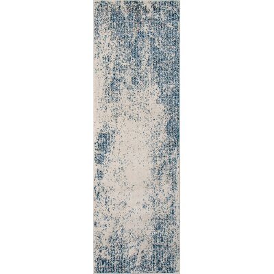 Terry Blue & Beige Area Rug Rug Size: 53 x 76