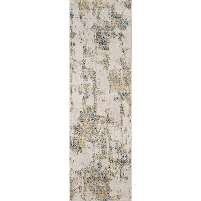 Terry�Gray/Blue Area Rug Rug Size: Runner 23 x 76