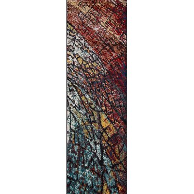Terry Brown/Blue Area Rug Rug Size: Runner 23 x 76