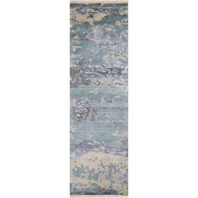 Moises Hand-Knotted Blue Area Rug Rug Size: Rectangle 5 x 8