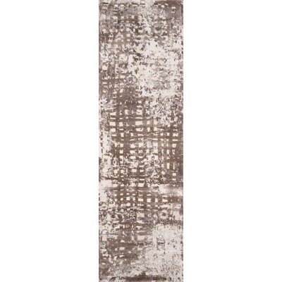 Pierce Brown/Beige Area Rug Rug Size: Runner 23 x 76