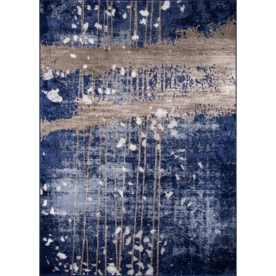 Pierce Blue/Gray Area Rug Rug Size: Rectangle 76 x 96