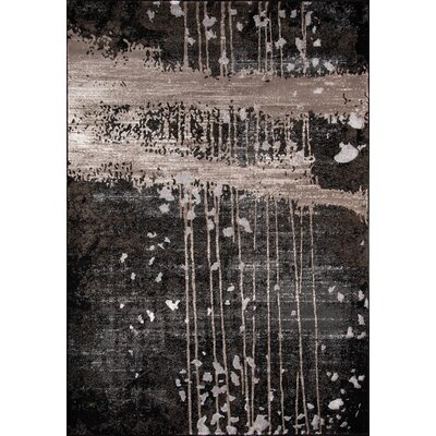 Pierce Charcoal Area Rug Rug Size: Rectangle 5 x 76