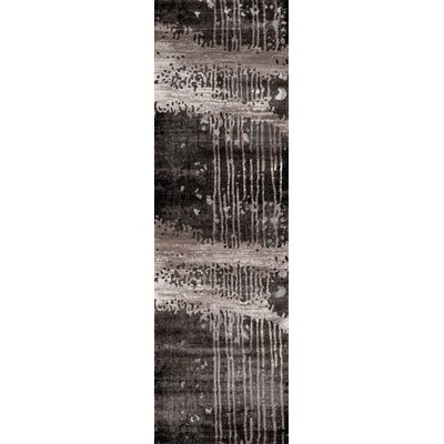Pierce Charcoal Area Rug Rug Size: Runner 23 x 76