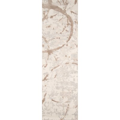 Stanford Hand-Tufted Gray/Beige Area Rug Rug Size: Runner 23 x 8