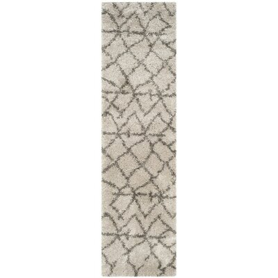 Goldfield Taupe/Gray Shag Area Rug Rug Size: Runner 23 x 7