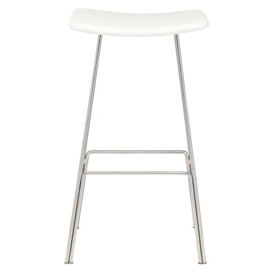 Claudie 29.75 Bar Stool Upholstery: White