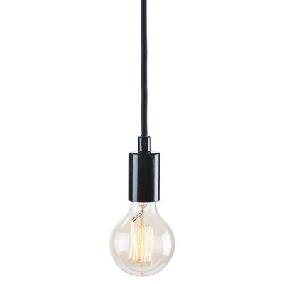 Carlee 1-Light Globe Pendant Finish: Black / Black