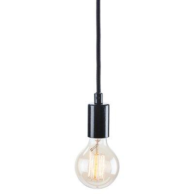 Ventamin 1-Light Globe Pendant Finish: Black / Black
