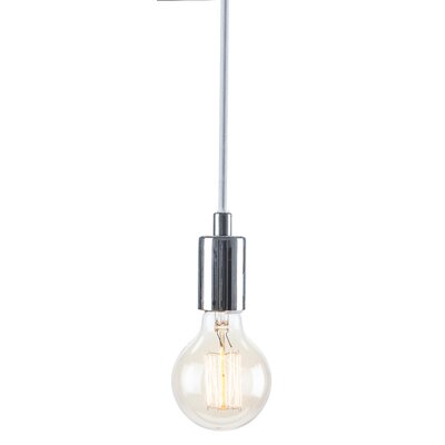 Carlee 1-Light Globe Pendant Finish: Chrome /�White
