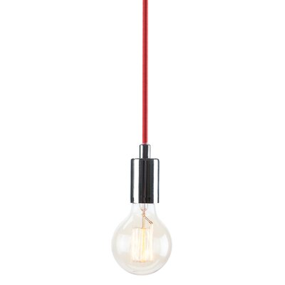 Carlee 1-Light Globe Pendant Finish: Chrome /�Red