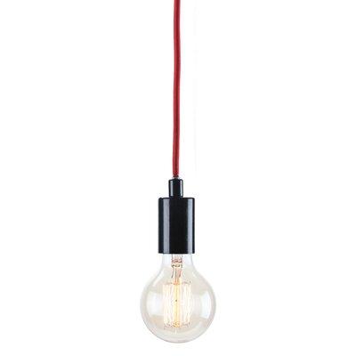 Carlee 1-Light Globe Pendant Finish: Black /�Red