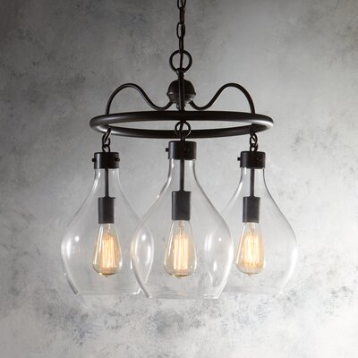 Waurika 3-Light Shaded Chandelier