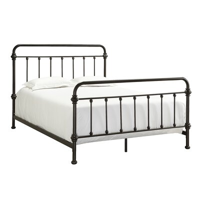 Laroche Panel Bed Size: King, Finish: Antique Dark Bronze