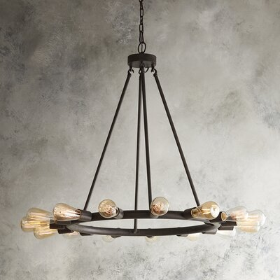 Saito 15-Light Candle-Style Chandelier