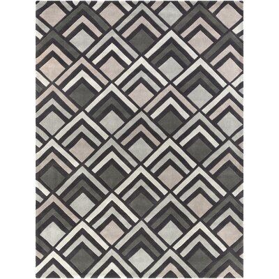 Harvey Hand-Tufted Charcoal/ Gray Area Rug Rug Size: Rectangle 8 x 11