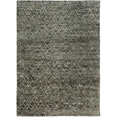 Albert Hand-Knotted Forest/Olive Area Rug Rug Size: Rectangle 2 x 3