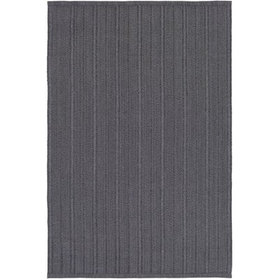 Philip Hand-Woven Black Indoor/Outdoor Area Rug Rug size: Rectangle 5 x 76