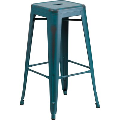 Barchetta 30 Bar Stool Finish: Distressed Kelly Blue