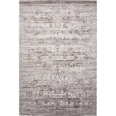 Arabelle Silver Area Rug Rug Size: 86 x 116