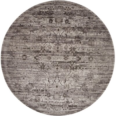 Arabelle Silver Area Rug Rug Size: Round 8
