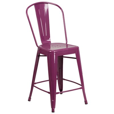 Dovercliff 24 Bar Stool Finish: Glossy Purple