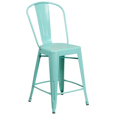 Dovercliff 24 Bar Stool Finish: Glossy Mint Green