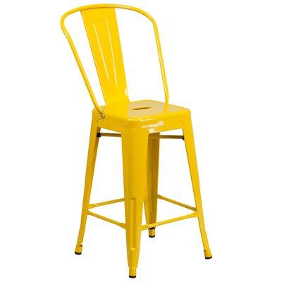 Dovercliff 24 Bar Stool Finish: Glossy Yellow
