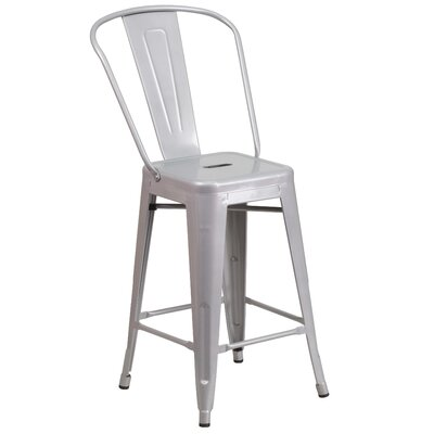 Dovercliff 24 Bar Stool Finish: Glossy Silver