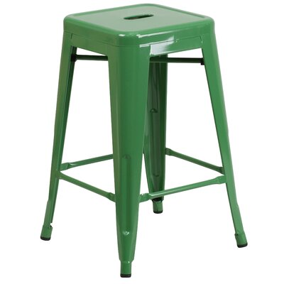 Lompoc 24 Bar Stool Finish: Glossy Green