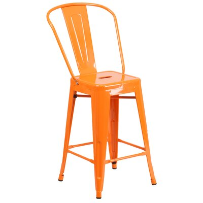 Dovercliff 24 Bar Stool Finish: Glossy Orange